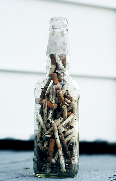 We are all a Jar full of cigarette butts!